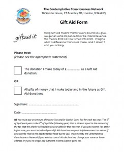 Gift Aid Form Image