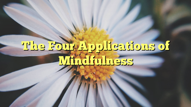 The Four Applications of Mindfulness